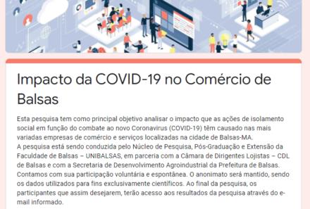 Pesquisa – Impacto da COVID-19 no setor de comércio e serviços de Balsas